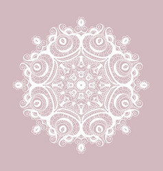 Lace round paper doily christmas snowflake vector