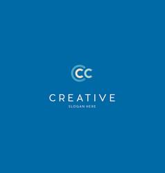 letter ccc creative business logo design vector image