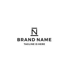 n letter hat logo icon vector image