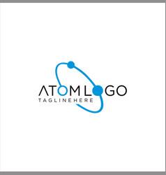 neutron atom logo icon design stock vector image