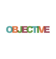 Objective business card text modern lettering vector