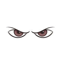 Pair of eyes watching icon cartoon style vector image