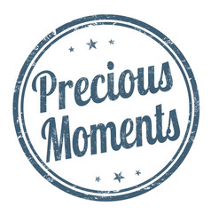 Precious moments sign or stamp vector