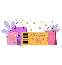price reduction coupon or special offer vector image