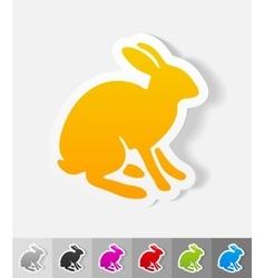 Realistic design element hare vector