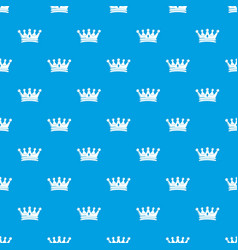 Regal crown pattern seamless blue vector