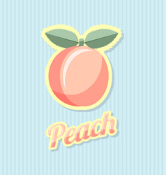 retro peach with title on striped background vector image