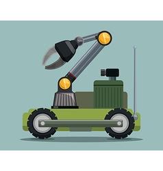 Robot digital design vector image