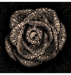 Rose of skulls and bones vector image