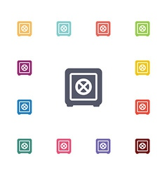 safe flat icons set vector image