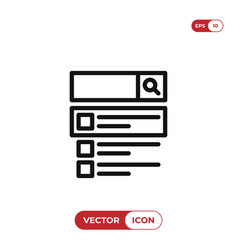 search on web icon vector image