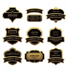 set of golden labels and frames vector image vector image