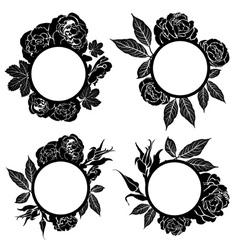 set of vintage frames vector image