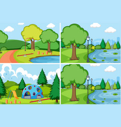 set simple park vector image