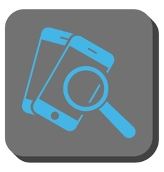 Smartphone Magnifier Search Tool Rounded Square vector