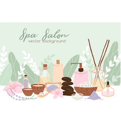 spa wellness and beauty salon background vector image