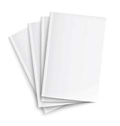 Stack blank magazines template vector