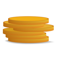 stack of coin icon realistic style vector image