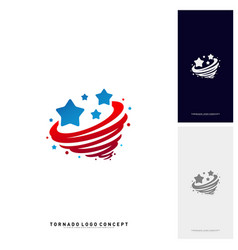 Stars twist logo design concept storm stars logo vector