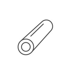 steel pipe line outline icon vector image