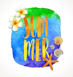 Summer holidays vector image