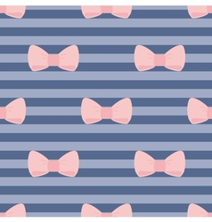 Sweet bow tile wallpaper or decoration background vector image