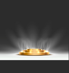 the gold podium is winner or popular on gray vector image
