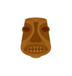 Tiki idol icon flat style vector