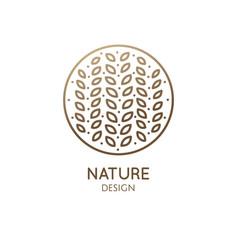 tropical flower logo vector image
