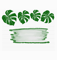 tropical palm leaves isolated on white background vector image