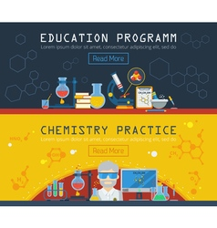 Two Chemistry Horizontal Banners vector image