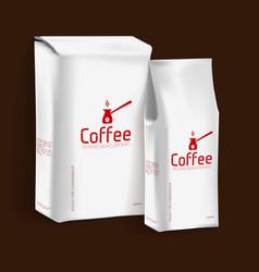 Vacuum package of coffee vector