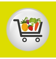 vegetable purchasing design vector image