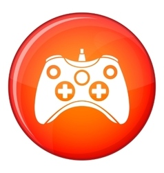 Video game controller icon flat style vector image