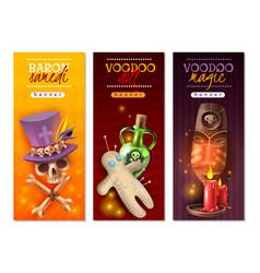 voodoo rituals banners vector image