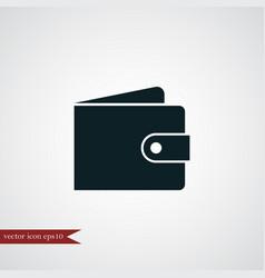 Wallet icon simple vector