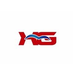 XG letter logo vector