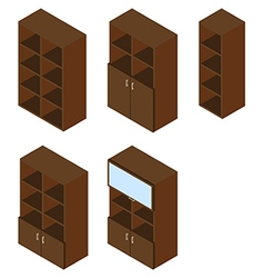 Book cupboard isometric vector