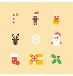 Christmas icons collection Set of new year vector image vector image