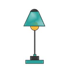 desk lamp electric bulb light equipment vector image vector image