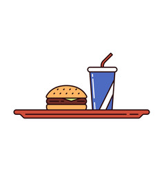 fast and junk food vector image