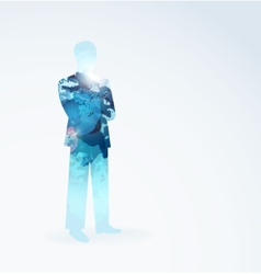 Man abstract on a white backgrounds vector image