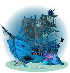 Old ship background vector image vector image