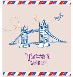 Tower bridge- symbol of London vector image