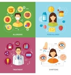Various allergy types symptoms vector