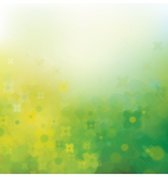 yellow green gloral pattern vector image