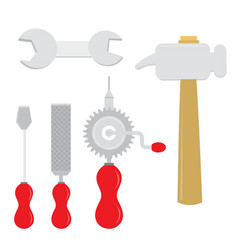 equipment tool handcraft cartoon vector image vector image