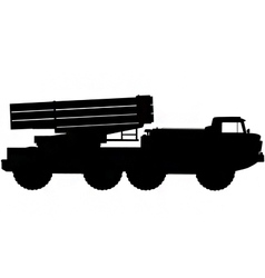 missile launcher silhouette vector image vector image