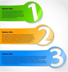 Paper progress option stickers vector image vector image