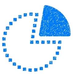 Pie Chart Grainy Texture Icon vector image vector image